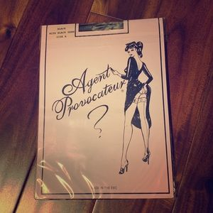 NWT Agent Provocateur stockings - black - size A